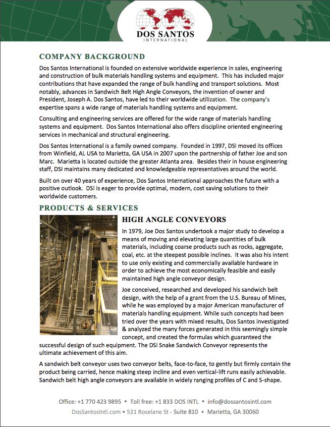 Dos Santos International Company Flyer PDF Download
