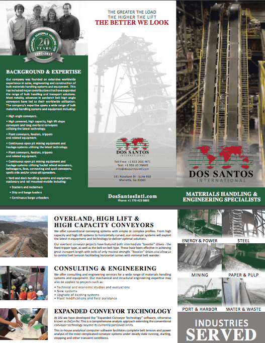 Bulk Materials Specialists Dos Santos International Company Brochure