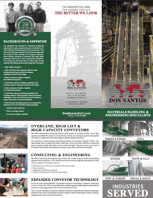 Bulk Materials Specialists Dos Santos International Company Brochure