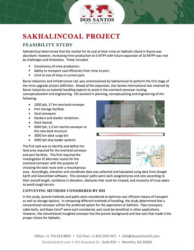 Sakhaliancoal Project Feasibility Study
