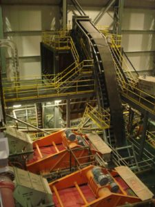 DSI Snake Sandwich Conveyor for Becma Corporation at Victor Diamond Mine