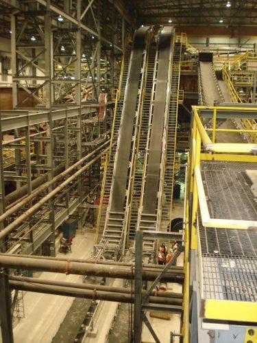 DSI Snake Sandwich Conveyor for Becma Corporation at Victor Diamond Mine