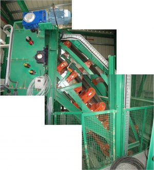 DSI C-Snake Sandwich Conveyor for TAIM WESER at Repsol Refinery, Cartagena, Spain